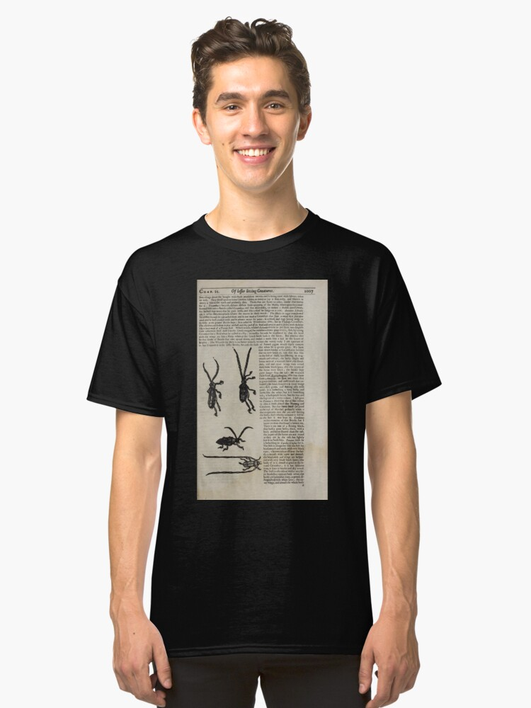 Alternate view of The History of Four Footed Beasts Serpents and Insects 183 Classic T-Shirt