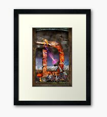Steampunk - Alphabet - D is for Death Ray Framed Print