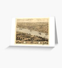 Vintage Pictorial Map of Jefferson City MO (1869)  Greeting Card