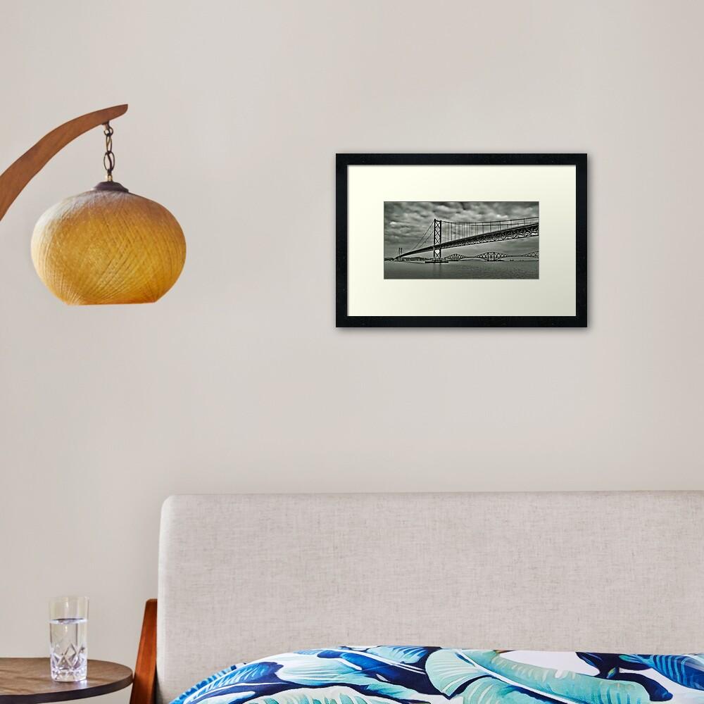 Forth Bridge Fifty Framed Art Print