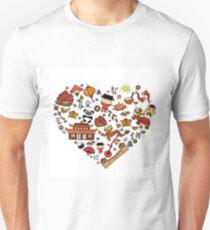 Chinese cartoon elements in heart shape Unisex T-Shirt