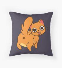 Sass Cat Throw Pillow
