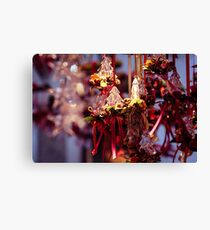 little christmas trees as gifts and decorations for christmas Canvas Print