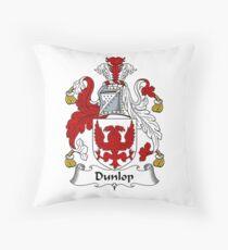 Dunlop Coat of Arms / Dunlop Family Crest Throw Pillow