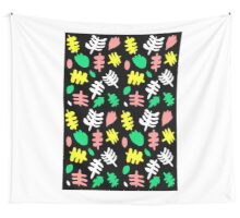 Paradise Tropic black Wall Tapestry
