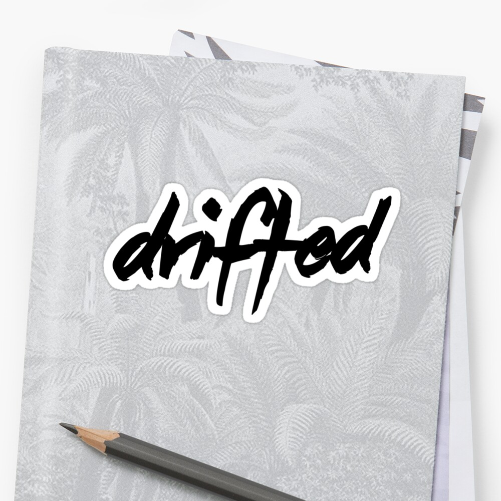 Drifted Classic Logo Sticker - Black by driftedshop