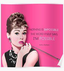 Movie star art - Audrey Hepburn Poster