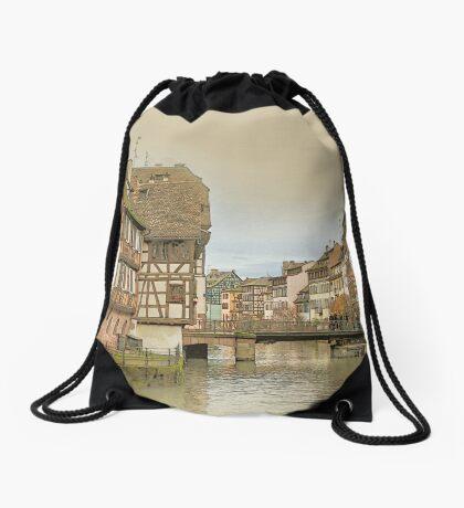 Little France, Strasbourg Drawstring Bag