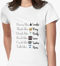 Gilmore girls- Best qualities Womens Fitted T-Shirt