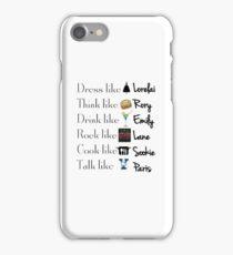 Gilmore girls- Best qualities iPhone Case/Skin