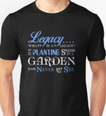 Hamilton Musical Quote. Legacy... Unisex T-Shirt