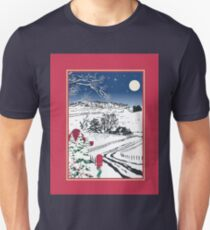 Silent Winter Night Silhouette Unisex T-Shirt