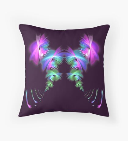 Fly away #fractal Throw Pillow