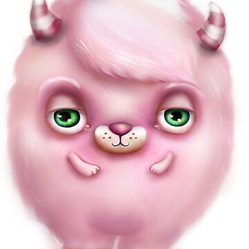 Monster in Pink #2 - Creepy Cute by sarahmwall