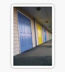 Beach House Doors Sticker