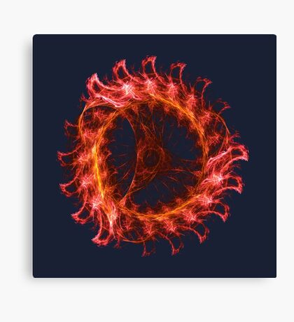 I am the Fire! #fractal Canvas Print