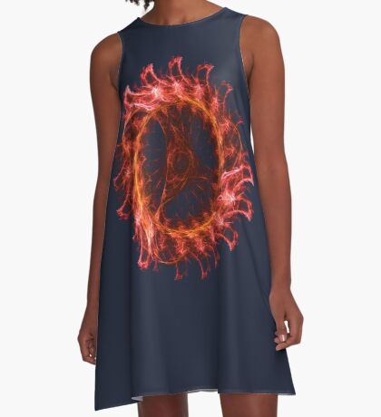 I am the Fire! #fractal A-Line Dress