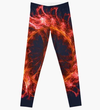 I am the Fire! #fractal Leggings