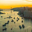 Hong Kong sunset by kawing921