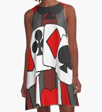 Artistic Fun Playing Cards Abstract Art A-Line Dress