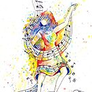 Dancing to the Music of Her Soul - Painted by Robin Monroe