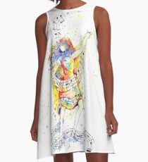 Dancing to the Music of Her Soul - Painted A-Line Dress