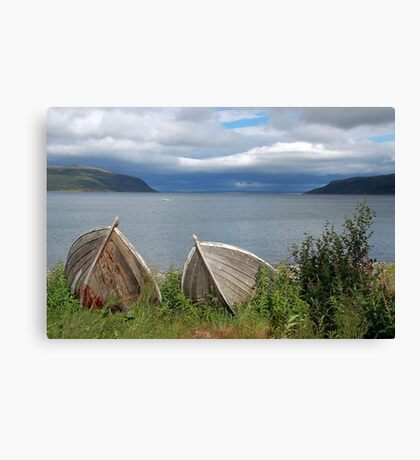 Boats ashore (Olderfjord - Norway) Canvas Print