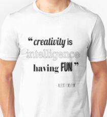 Camiseta unisex Cita de Albert Einstein