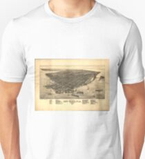 Vintage Pictorial Map of Key West FL (1884) Unisex T-Shirt