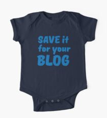 Save it for your blog One Piece - Short Sleeve