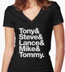 Tony. Steve. Lance. Mike. Tommy Women's Fitted V-Neck T-Shirt