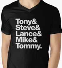 Tony. Steve. Lance. Mike. Tommy Men's V-Neck T-Shirt