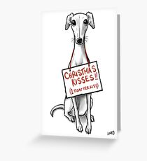 Christmas Whippet Snogs Greeting Card