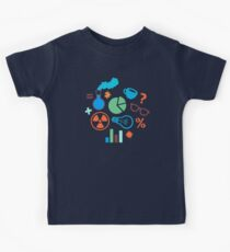 Colorful Scientist Pattern Kids Clothes