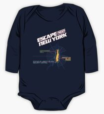 ESCAPE FROM NEW YORK - ISLAND MAP (1) One Piece - Long Sleeve