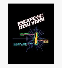 ESCAPE FROM NEW YORK - ISLAND MAP (1) Photographic Print