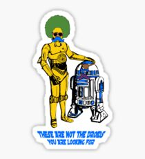 Not the droids you are looking for Sticker