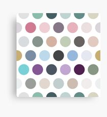 The pattern consists of multi-colored circles Canvas Print