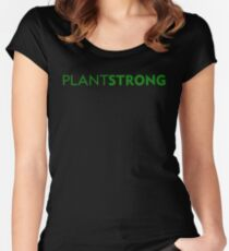 Plant Strong Women's Fitted Scoop T-Shirt