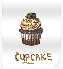 Cupcake for breakfast Poster