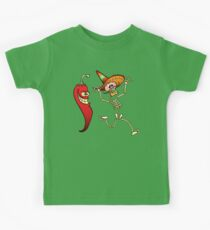 Hot Chili Pepper Nightmare for a Mexican Skeleton Kids Clothes