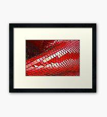 red tint  Framed Print