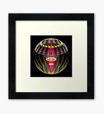 Alien sphere fractal fantasy Framed Print