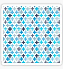 Patchy Crosses Sticker
