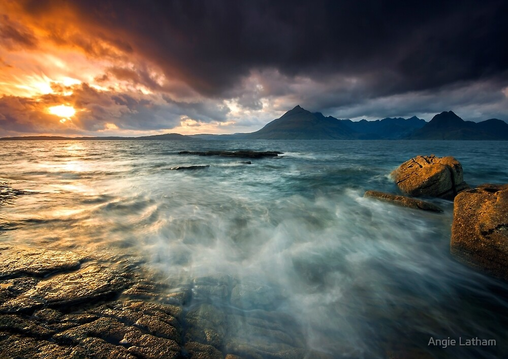 Elgol Sunset - Isle of Skye, Scotland by Angie Latham