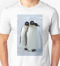 Emperor Penguins Huddled Unisex T-Shirt