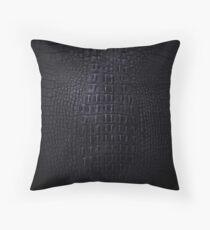 Black Crocodile Skin Throw Pillow