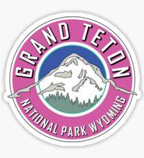 GRAND TETON NATIONAL PARK WYOMING 1929 HIKING CAMPING CLIMBING MOUNTAINS PINK 2 Sticker
