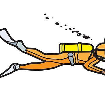 Orange Diver by trebordesign