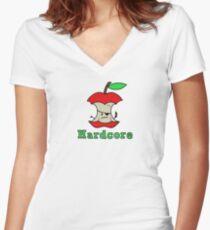 Hardcore Women's Fitted V-Neck T-Shirt